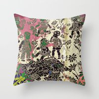 kids Throw Pillows featuring kids by Shelby Claire