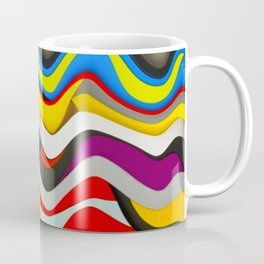Colored Waves Coffee Mug