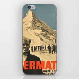 Vintage poster - Zermatt iPhone Skin