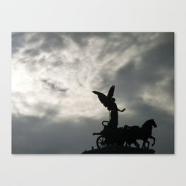 Roman angel and chariot at sunset 2 Canvas Print