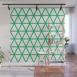 Green Triangle Pattern 2 Wall Mural