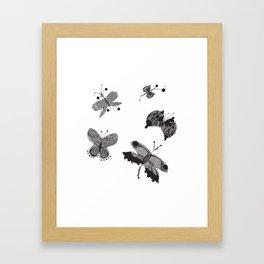 Flutter by Messages Framed Art Print