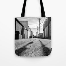 Alleyway shadows Tote Bag