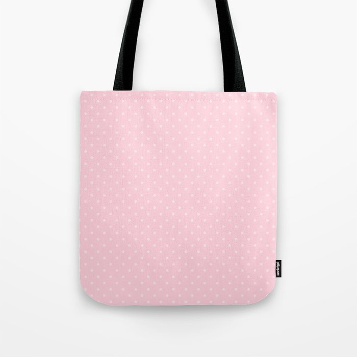 e7342f1ebe18 Light Soft Pastel Pink Mini Polka Dot Hearts Tote Bag by ...