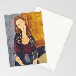 Jeanne Hebuterne woman portrait by Amedeo Modigliani Stationery Cards