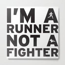 i'm a runner Metal Print