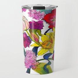 Tulips & Daffodils  Travel Mug