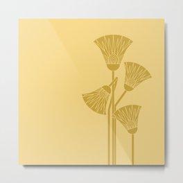 Ancient Egyptian lotus - Two colors Metal Print