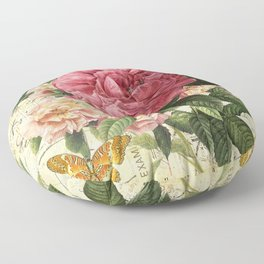Vintage flowers #28 Floor Pillow