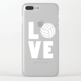 Funny volleyball product - Love Volleyball - Birthday gift Clear iPhone Case