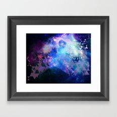 T-rex Nebula Framed Art Print