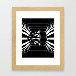 Catch Me in B&W Framed Art Print