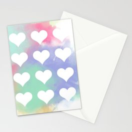 Painted Hearts Stationery Cards