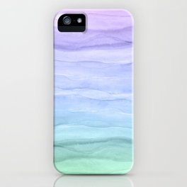 Layers Blue Ombre - Watercolor Abstract iPhone Case