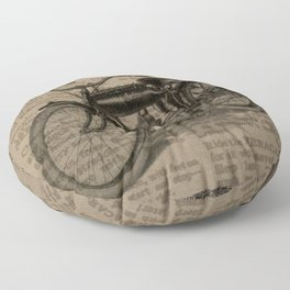 Steampunk Neck Gator Moped Motorized Bike Steam Punk Floor Pillow