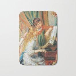 Auguste Renoir  -  Girls At The Piano Bath Mat