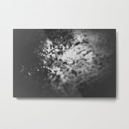 reflection in wet pavement. Metal Print