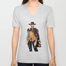 Blondie Poster from The Good the Bad and the Ugly Unisex V-Neck