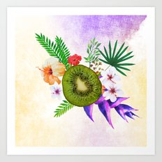 Blooming Kiwi Art Print