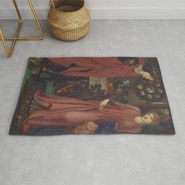 Edward Burne-Jones - Fair Rosamund and Queen Eleanor Rug