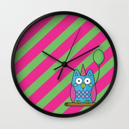 Nutty the Owl - Party Animal Wall Clock