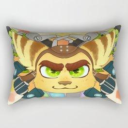 Never Outgunned Rectangular Pillow