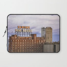 Montreal Farine Five Roses, Montreal Iconic, Urban photo, Architecture, modern Laptop Sleeve
