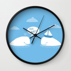 Nice Hat! Wall Clock
