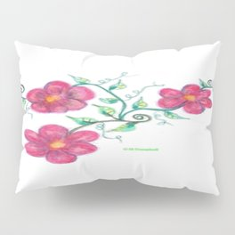 Three Flowers Pillow Sham