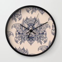 Lotus Mandala Pug Wall Clock
