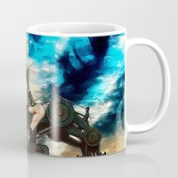 heavy metal Mugs featuring Heavy Metal by Danielle Tanimura