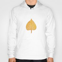 lonely Hoodies featuring Lonely Leaf by Klara Acel