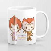 thundercats Mugs featuring Willykit & Willykat - 2 by Azul Piñeiro