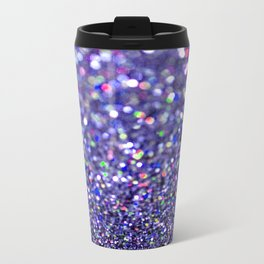 Partytime in Purple Metal Travel Mug