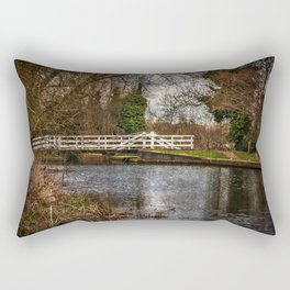 Sulhamstead Swing Bridge On The Kennet and Avon Rectangular Pillow