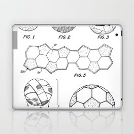 Soccer Ball Patent - Football Art - Black And White Laptop & iPad Skin