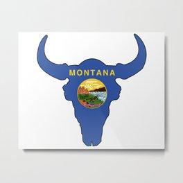 Montana Bison Metal Print