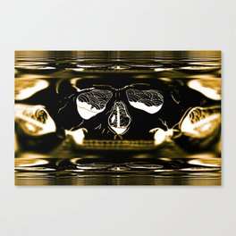 gold skull Canvas Print