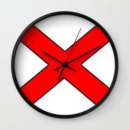 Saint andrew's cross 1- Wall Clock