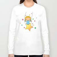 starry night Long Sleeve T-shirts featuring Starry Night by Pigtails