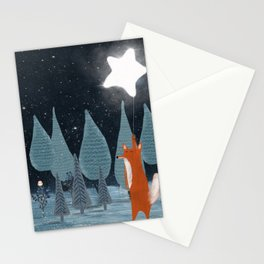 the star balloon Stationery Cards