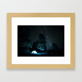 Camping out at Zion National Park's West Rim Trail at about 7,000 feet. 3 Framed Art Print