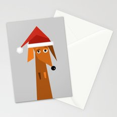 Dachshund Ready For Christmas Stationery Cards
