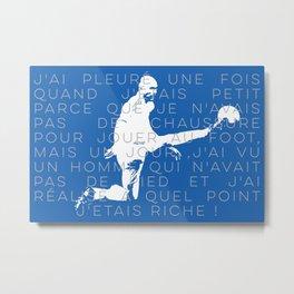 Zinedine Zidane Metal Print