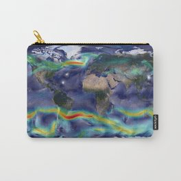 A Portrait of Global Winds Carry-All Pouch