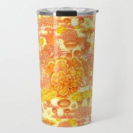 Welcome to my fungi world - yellow Travel Mug