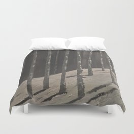 Birch Forest - Spring is coming Duvet Cover