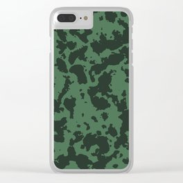 Military pattern Clear iPhone Case