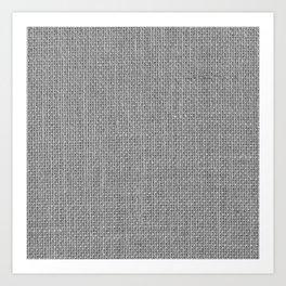 Natural Woven Silver Grey Burlap Sack Cloth Art Print