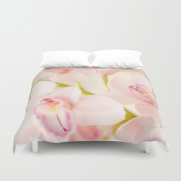 Orchid Flower Bouquet On A Light Background #decor #society6 #homedecor Duvet Cover